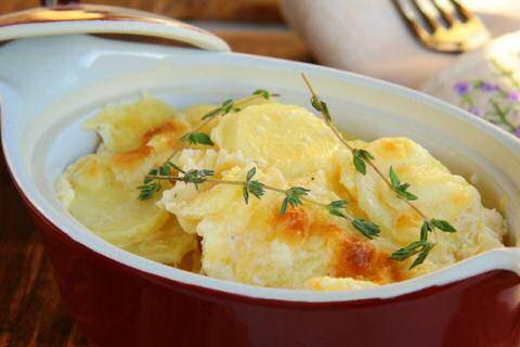 Aardappelgratin recept of gratin dauphinois zonder kaas