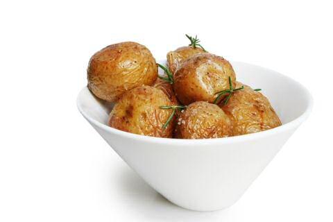 Aardappels gebakken in de oven