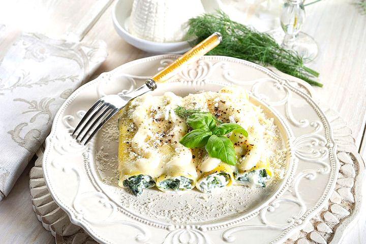 Cannelloni spinazie ricotta