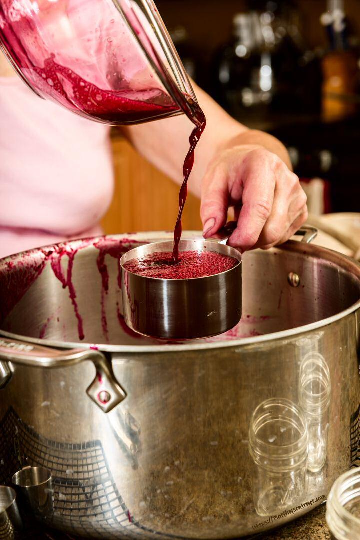 Druivenconfituur maken