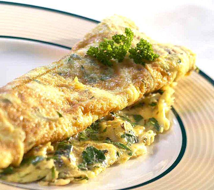 Gebakken omelet