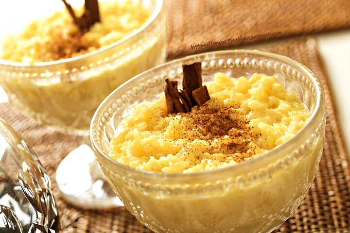 Rijstpap recept met room en bruine suiker