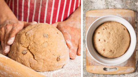 Rozijnenbrood bakken met de hand