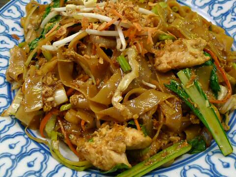 Char kuey teow - wok met kip