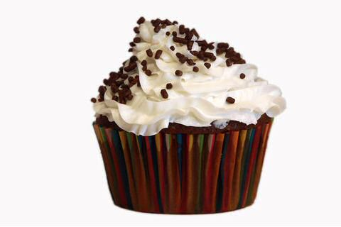 Chocolade cupcake met mascarpone topping