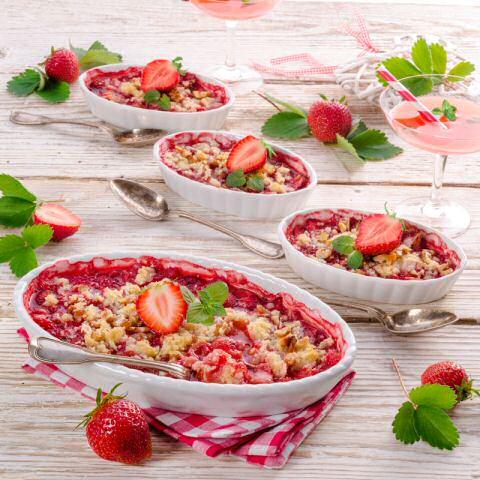 Crumble recept stap voor stap foto's met aardbeien