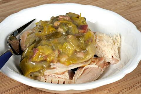 Blackwellsaus met varkenskotelet en peterselie