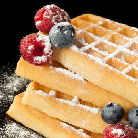 Brusselse wafels met fruit