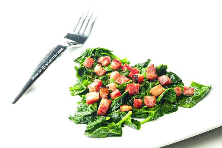 Verse spinazie klaarmaken