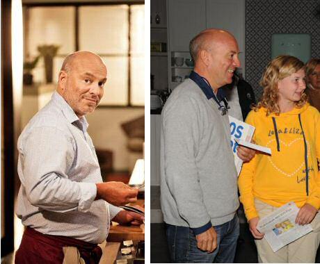 Piet Huysentruyt voor en na zijn diabetes type 2 dieet