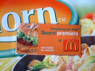 McDonalds verkoopt Quorn burgers