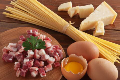 Spaghetti carbonara ingredienten