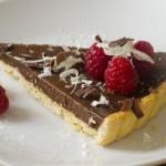 Chocoladetaart met aardbeien