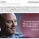 Piet Huysentruyt Sofie Dumont Lionel Messi en FC Poelkapelle